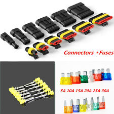 Coche 1/2/3/4/5/6Pin Cable Eléctrico Terminal Cable Conector forma Impermeable Fusibles