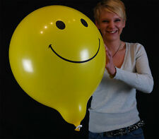 "5 x große BSA 17"" Smiley-Luftballons in gelb *Smiley balloon*Outdoor Ballon*"