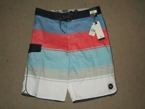 RIP CURL BOYS YOUTH BOARD SHORTS BLACK SIZE 18/29 SWIMMING NEW NWT POLYESTER
