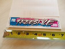 1987 GT ProFreestyle Tour handlebar decal magenta on clear old school bmx