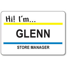 GLENN STORE MANAGER BADGE & BUTTON HALLOWEEN COSTUME SUPERSTORE TV SHOW MAGNETIC