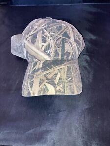 Mossy Oak Shadow Grass Blades Camo Hat Baseball Cap Mesh/Adjustable Back Cap