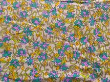 Vintage 1940's 50's Cotton Crepe Dress Making Fabric Retro Abstract Design