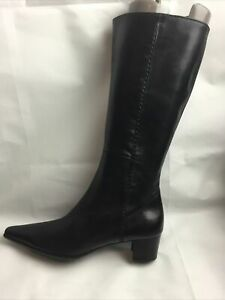 Plumers Ladies Knee High Boots UK Size 5 EU 38 Black Leather.