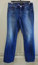 "Roca Wear Size 9 Jeans Flare Leg Distressed  32"" x 30"" Stretch"