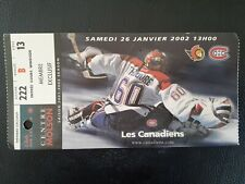 MONTREAL CANADIENS FORUM OLD TICKET STUB JOSE THEODORE
