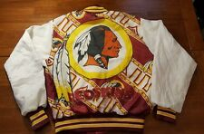 WASHINGTON REDSKINS Chalk Line Jacket YOUTH SZ LARGE 14-16 VTG Fanimation Indian