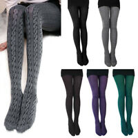 FP- Women Autumn Winter Knitted Tights Candy Color Warm Pantyhose Stockings Prop