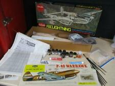 Guillows Lockheed P-38 Incomplete - parts, instructions other models see photo's