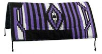 "32""x32"" PURPLE Western Saddle Pad W/ Felt Bottom & Suede Wear Leathers! NEW TACK"