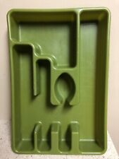 Vintage Rubbermaid Flatware Organizer Drawer Tray 2921 Green 5 Slot