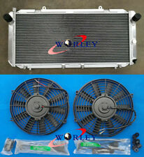 Aluminum Radiator +FAN For Toyota MR2 SW20 3SGTE 1990-1997 MT 91 92 93 94 95 96