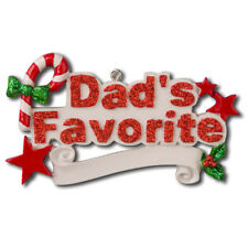 Family Dad's Favorite Personalized Christmas Tree Ornament