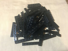 V Lego Lot 65 Black 1 x 6 Plate 3666 5571 5590 10019 10188 10175 75060