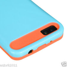 BlackBerry Z10 Laguna Hybrid Back Cover Skin Case Pastel Blue Orange