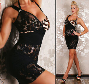 Womens One Shoulder Lace Dress Sexy Party Bodycon Mini Dress size 8 10