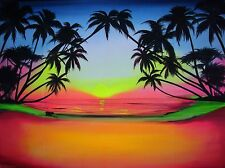 LARGE UV backdrop MADE TO ORDER!  tropical beach/wall hanging/studio background