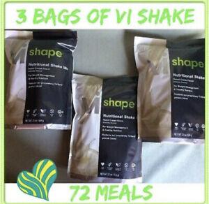 3x Body By Vi Shape ViSalus Shake Mix, 22 oz bags 72 Meals Exp 8/23