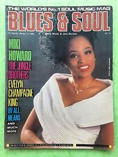 Blues & Soul - No.549 1989 - Evelyn Champagne King - The Jungle Brothers
