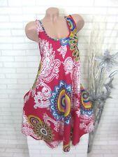 SOMMER Kleid Strandkleid Tunika Trägerkleid Hippie Pink Gr. 42 44 46 (2668)