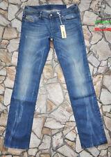 Diesel Distressed Denim Straight Leg Jeans for Women