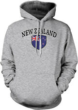 New Zealand Flag Crest Kiwi National Soccer Football Sports Hoodie Pullover