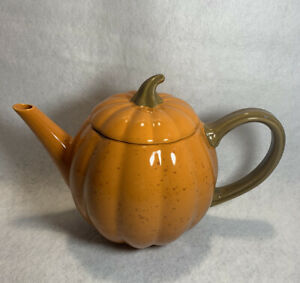 10 Strawberry Street Autumn leaves and Pumpkin Please Teapot - New Without Tags