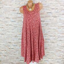 MADE IN ITALY Hängerchen Kleid Sommerkleid Blümchen Mille Fleur karmin-rot 40-44