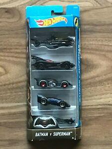 HOT WHEELS Batman V Superman Set of 5 Collectible Cars DJD23