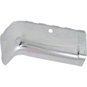 For Sierra 2500 HD 07-13, Rear, Driver Side Bumper End, Chrome, Steel