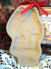 Brown Bag 1983 St. Nicholas Santa Cookie Art Paper Chocolate Wax Mold Christmas