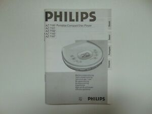 Bedienungsanleitung für Philips AZ7180, AZ7181, AZ7182, AZ7183, AZ7187 CD Player