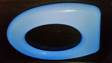 BLUE GLOW in the dark toilet seat incorp. antimicrobial coating, heavy polymer