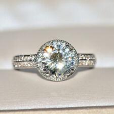 925 Silver Moissanite Gemstone Women Ring Wedding Engagement Gift Wholesale 6-10