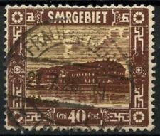 Saar 1922 SG#91, 40c Pottery Mettlach Used #D14720