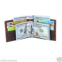 Herren Echtleder Portemonnaie Geldbeutel Brieftasche Kreditkartenetui Geldboerse