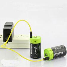 2PCS 4000MAH 1.5V Lipo lithium polymer ZNTER battery D rechargeable batteries