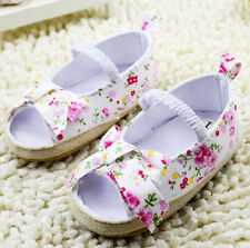 Infant Toddler Baby Girls Prewalker Sandle Crib Shoes Moccasins Floral CLD050