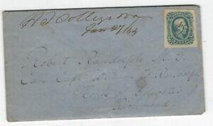 1864 Letter from Hampden-Sydney College Pres. to Dr. R.C. Carter of Millwood,VA