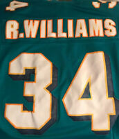 Ricky Williams Miami Dolphins NFL Equipment Reebok SUN FADED STITCHED Jersey L