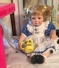 """MIB Toddler """"Got Milk""""Advertising  Marie Osmond Porcelain Doll w/ COA LE"""