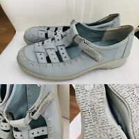 Ladies HOTTER Comfort Concept Tiffany Blue Leather Sandals Walking Shoes UK 5