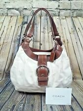 Coach Soho Large Lynn Hobo Shoulder Bag F15075 White Leather