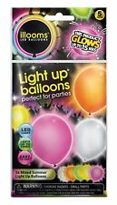 illooms Mixed Color LED Light Up Balloons 50 Pack Birthday Party Balloon Favor