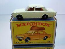 LESNEY MATCHBOX 45 FORD CORSAIR - CREAM - GOOD CONDITION IN BOX