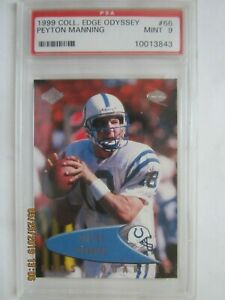 1999 Peyton Manning Collector's Edge Odyssey #66 - Graded PSA 9 MINT - COLTS