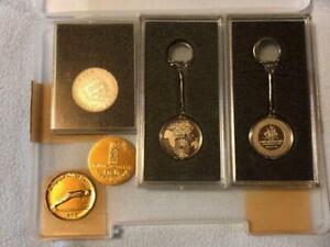 Sapporo Olympics 1972 medal key chain Japan 1976 Austria medal