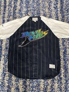Vintage Tampa Bay Devil Rays Mirage Jersey Mens Large