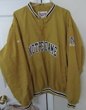 NCAA Notre Dame Quarter Zip Pullover by Reebok XL Mustard Color EUC