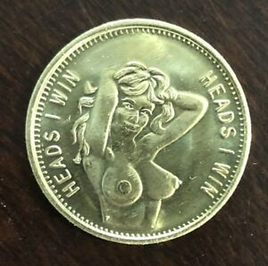 1 Coin Medallion Token Harley Sexy Lady Pin Up Girl Tattoo Coin Motorcycle